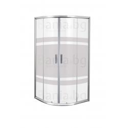 Душ кабина PRO-LINE, овална, 6 мм стъкло, антиваровиково покритие, с плъзгащи врати, различни размери
