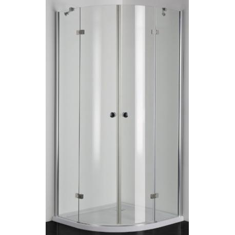 Душ кабина PRO-LINE EN23, овална, 5 мм стъкло, с две врати на панти, различни размери