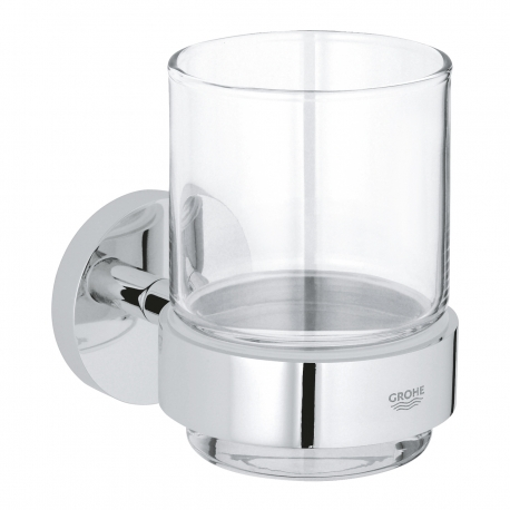 Аксесоари за баня GROHE Essential - Стъклена сапунерка с държач