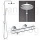 Пълен комплект за баня GROHE PALLET 12 - моноблок, долен и горен шкаф САРА, термостатен смесител с душ система и аксесоари