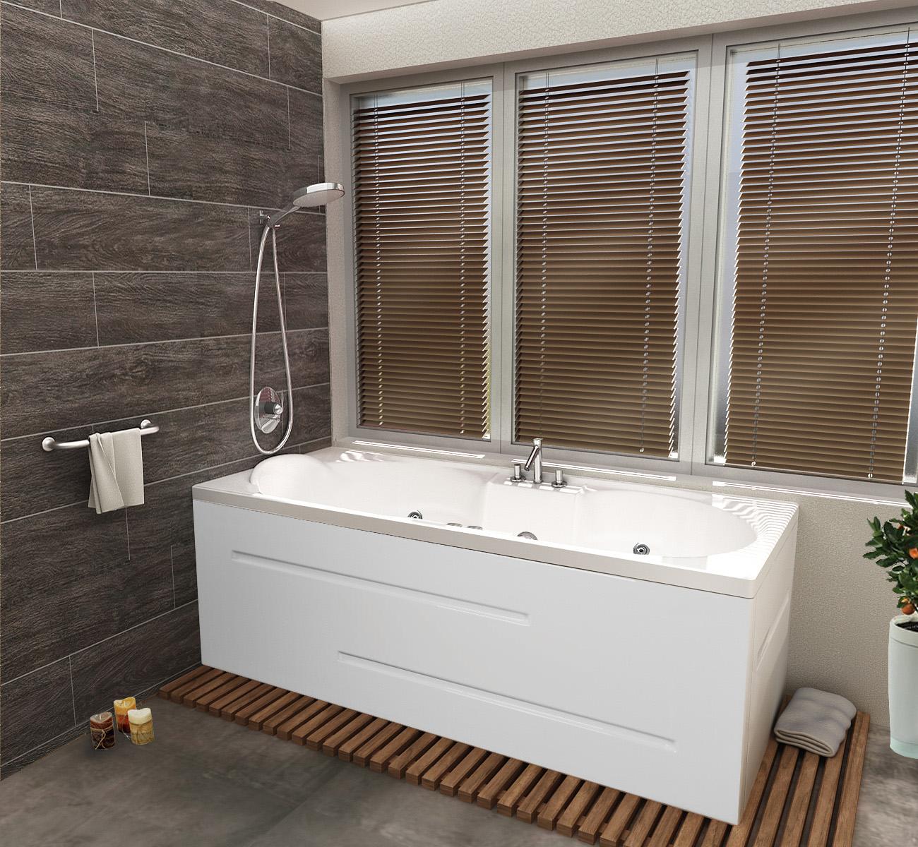 подвижния душ на смесителя за вграждане за хидромасажна вана